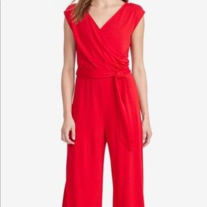 Lauren by Ralph Lauren Coral Belted Jumpsuit